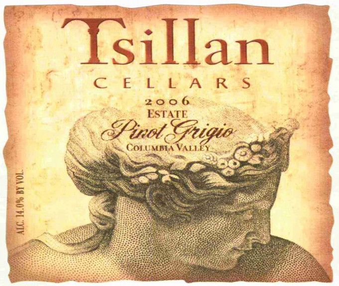 Tsillan Cellars Estate Pinot Grigio 2006 Front Label