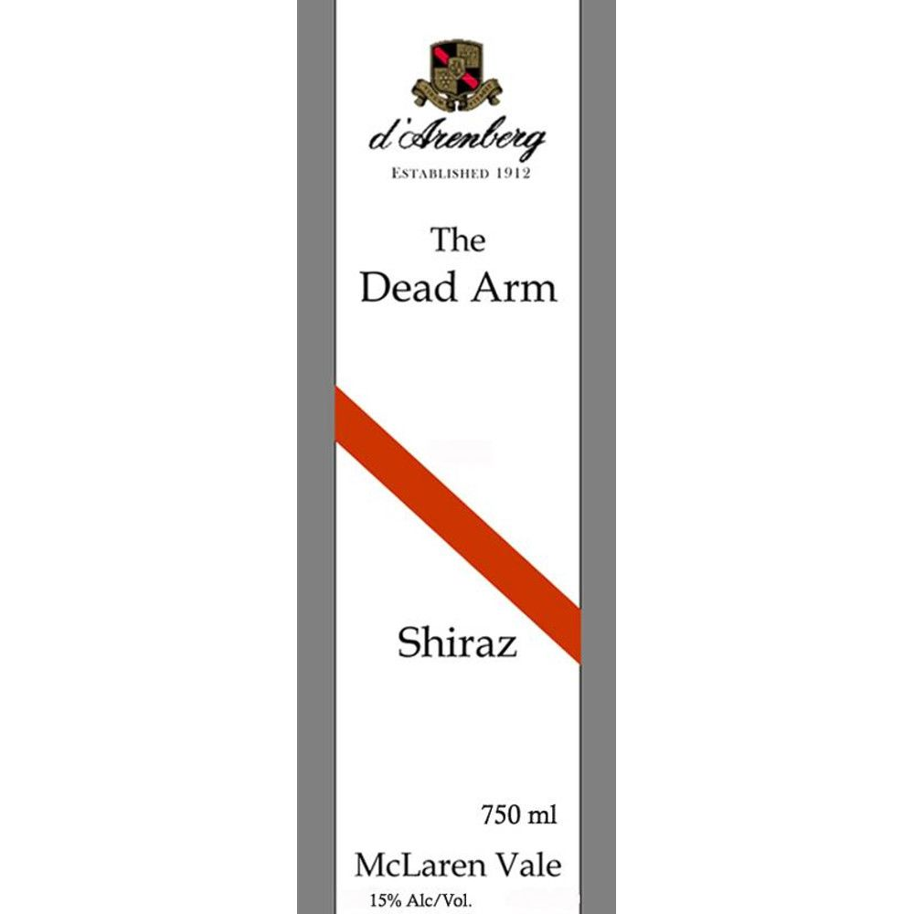 d'Arenberg The Dead Arm Shiraz 2001 Front Label