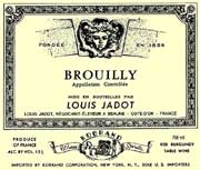 Louis Jadot Brouilly 2001 Front Label