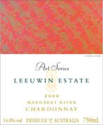 Leeuwin Estate Art Series Chardonnay 2000 Front Label