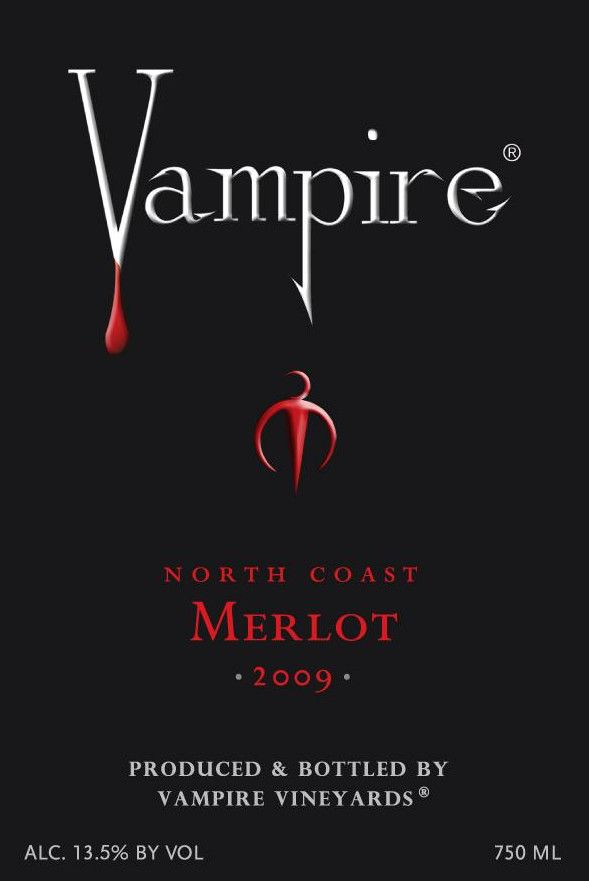 Vampire Vineyards Merlot 2009 Front Label