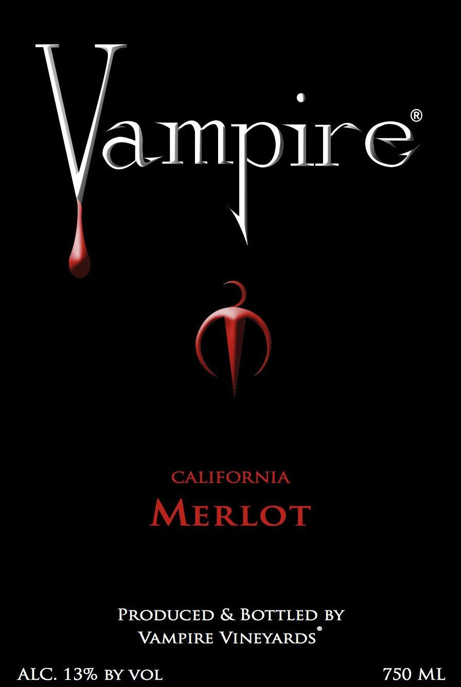 Vampire Vineyards Merlot 2012 Front Label