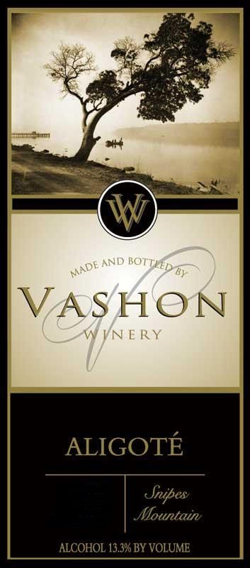Vashon Winery Aligote 2014 Front Label