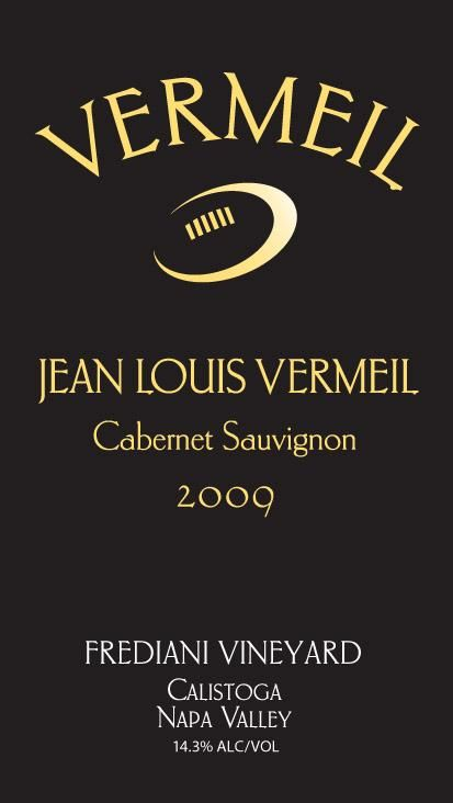 Vermeil Wines Frediani Vineyard Cabernet Sauvignon 2009 Front Label