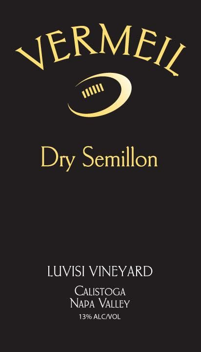 Vermeil Wines Luvisi Vineyard Dry Semillon 2011 Front Label