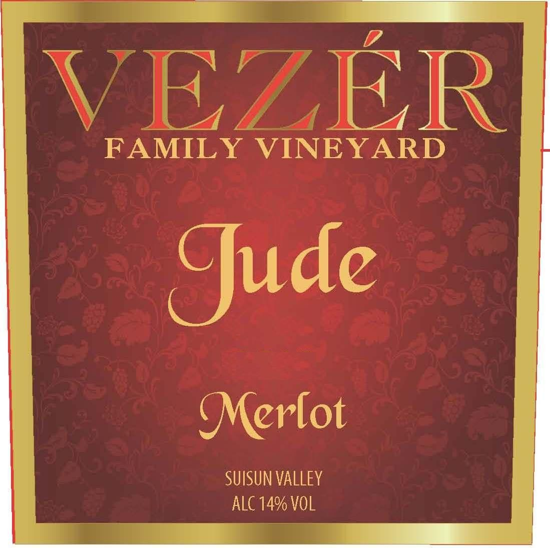 Vezer Family Vineyards Jude Merlot 2012 Front Label