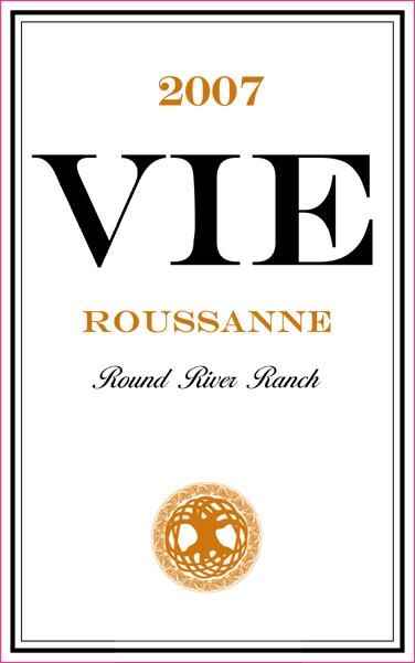 Vie Winery Roussanne 2007 Front Label