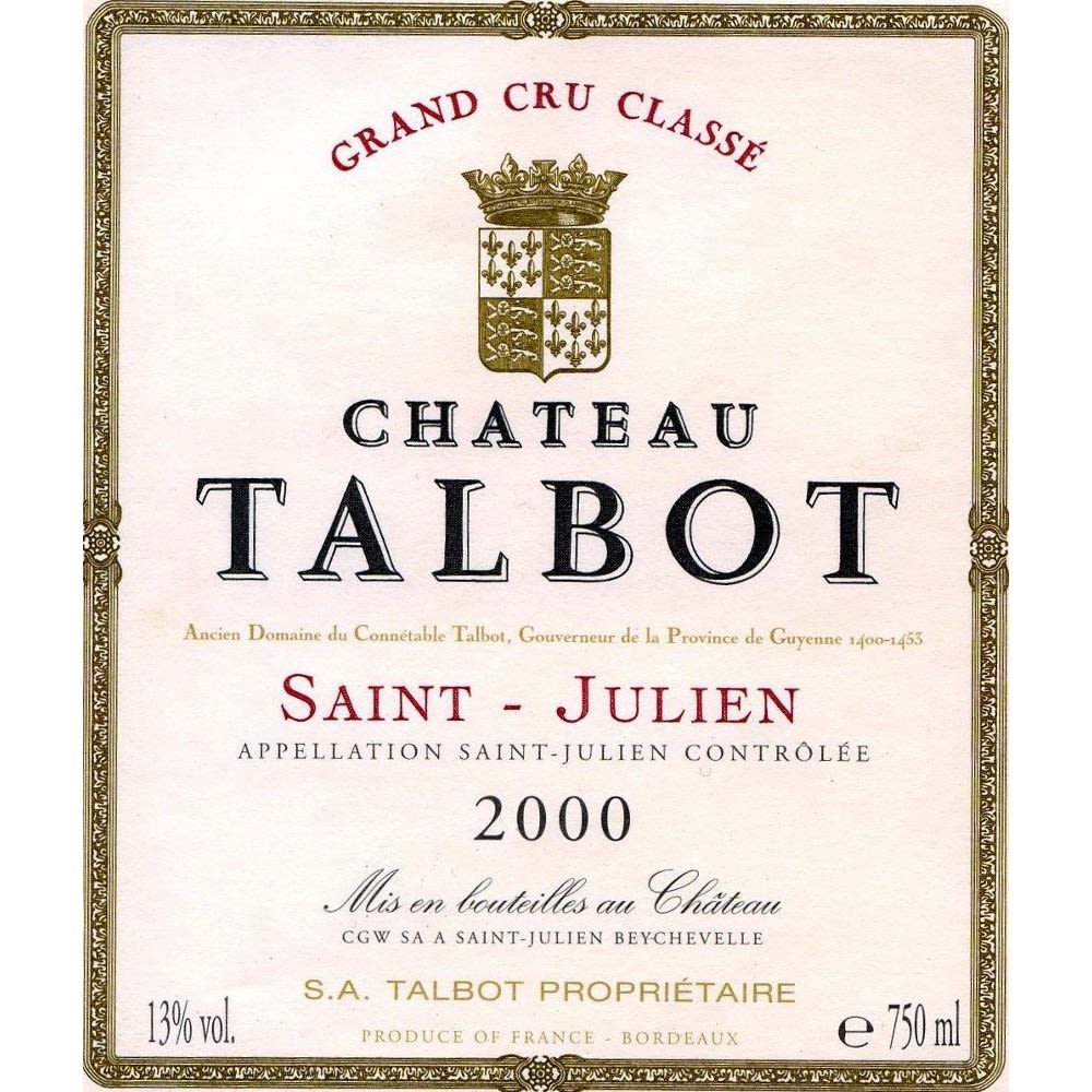 Chateau Talbot  2000 Front Label