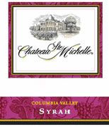 Chateau Ste. Michelle Columbia Valley Syrah 2001 Front Label