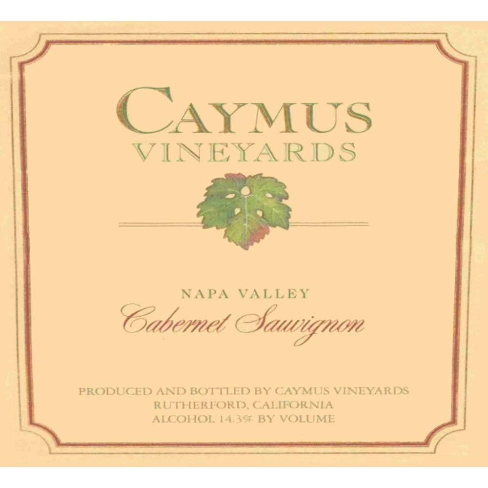Caymus Napa Valley Cabernet Sauvignon 2001 Front Label