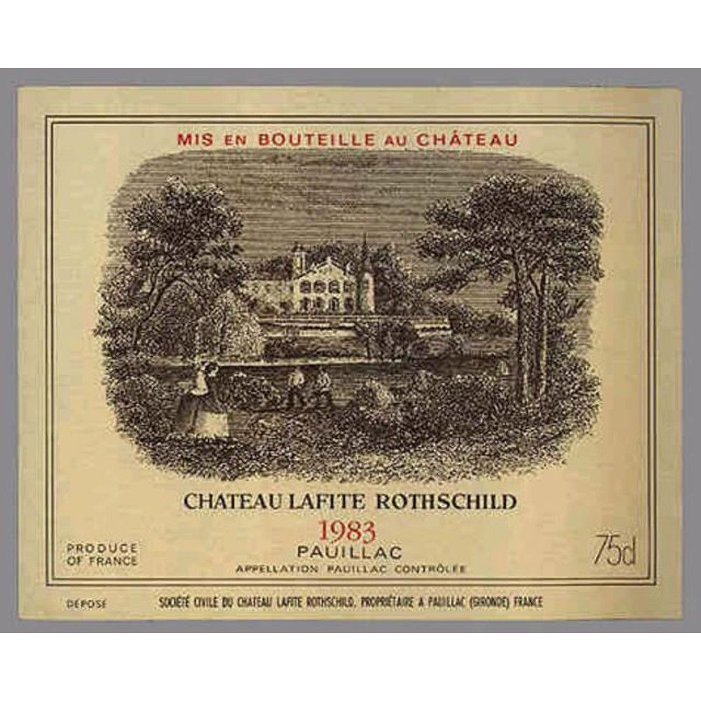 Chateau Lafite Rothschild  1983 Front Label