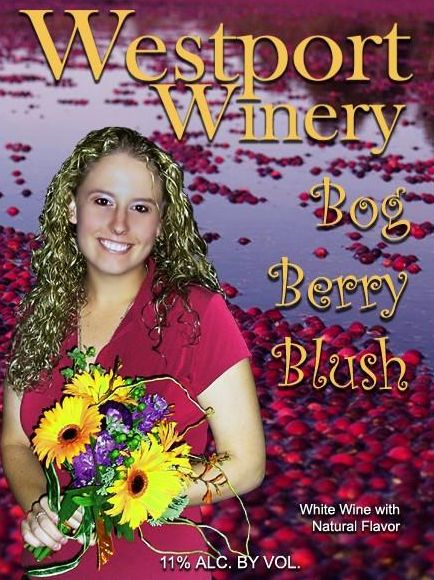 Westport Winery Bog Berry Blush Cranberry Gewurztraminer Front Label