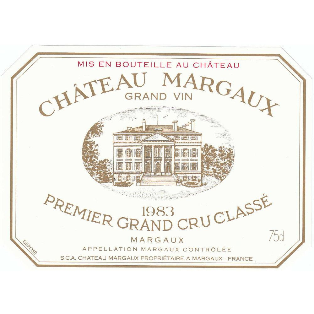 Chateau Margaux  1983 Front Label