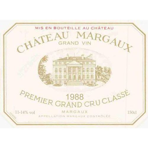 Chateau Margaux (stained label) 1988 Front Label