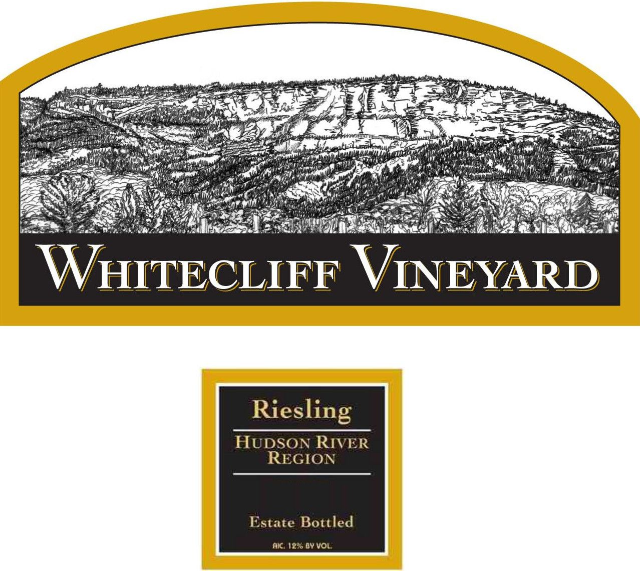 Whitecliff Vineyard & Winery Riesling 2014 Front Label