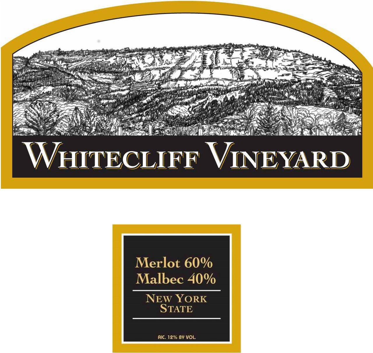 Whitecliff Vineyard & Winery Merlot - Malbec 2014 Front Label