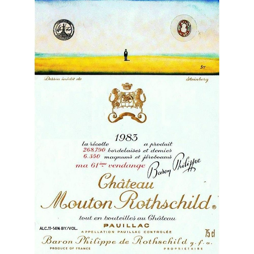 Chateau Mouton Rothschild  1983 Front Label