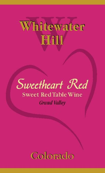Whitewater Hill Sweethearts Red 2015 Front Label