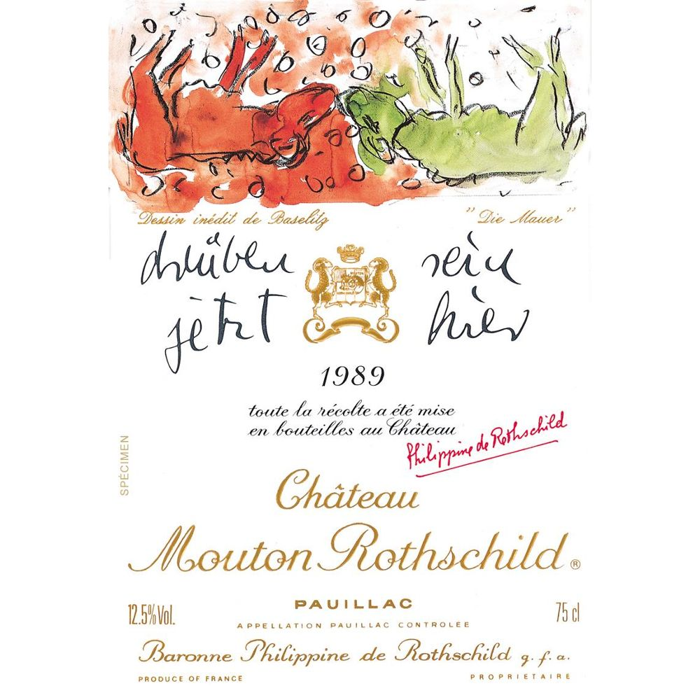 Chateau Mouton Rothschild  1989 Front Label