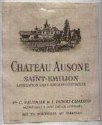 Chateau Ausone  1982 Front Label