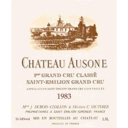 Chateau Ausone  1983 Front Label