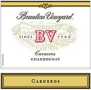Beaulieu Vineyard Carneros Chardonnay 2002 Front Label
