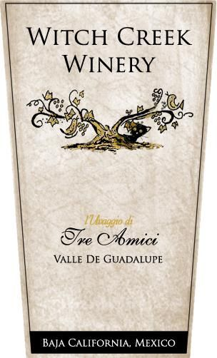 Witch Creek Winery L'Uvaggio di Tre Amici Red 2012 Front Label