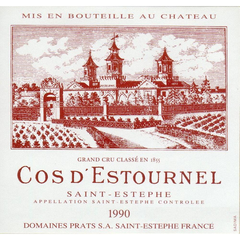 Chateau Cos d'Estournel  1990 Front Label