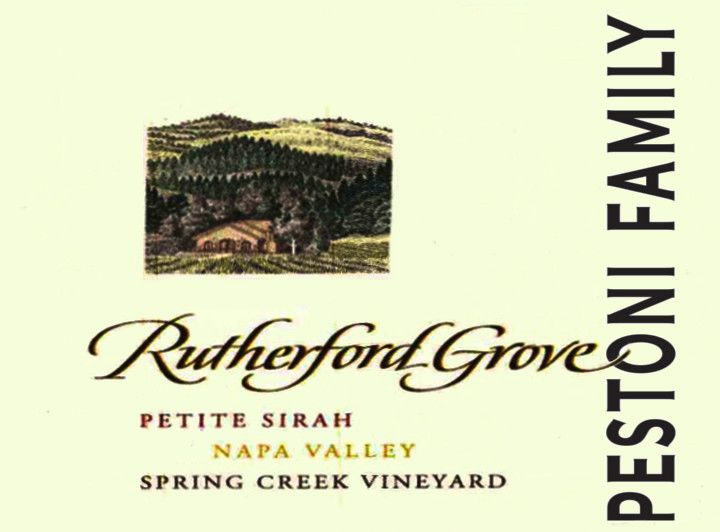 Rutherford Grove Napa Valley Spring Creek Vineyard Petite Sirah 2009 Front Label