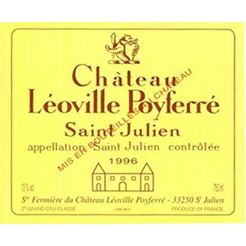 Chateau Leoville Poyferre  1996 Front Label