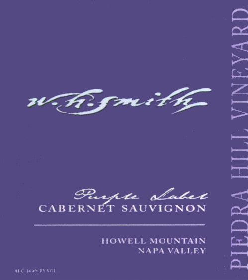 W.H. Smith Piedra Hill Purple Label Cabernet Sauvignon 2009 Front Label