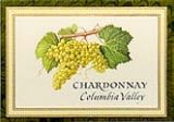 Chateau Ste. Michelle Indian Wells Vineyard Chardonnay 1996 Front Label