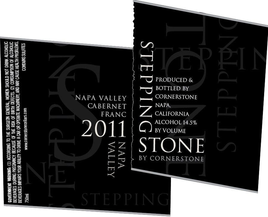 Stepping Stone by Cornerstone Cabernet Franc 2011 Front Label