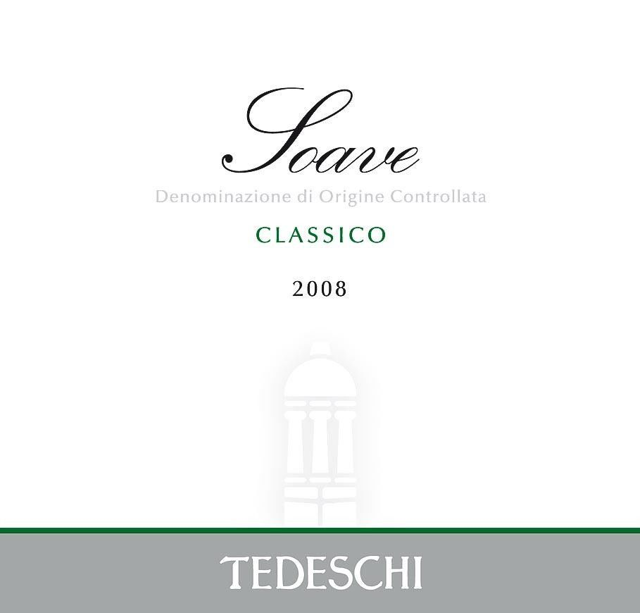 Tedeschi Soave Classico 2008 Front Label