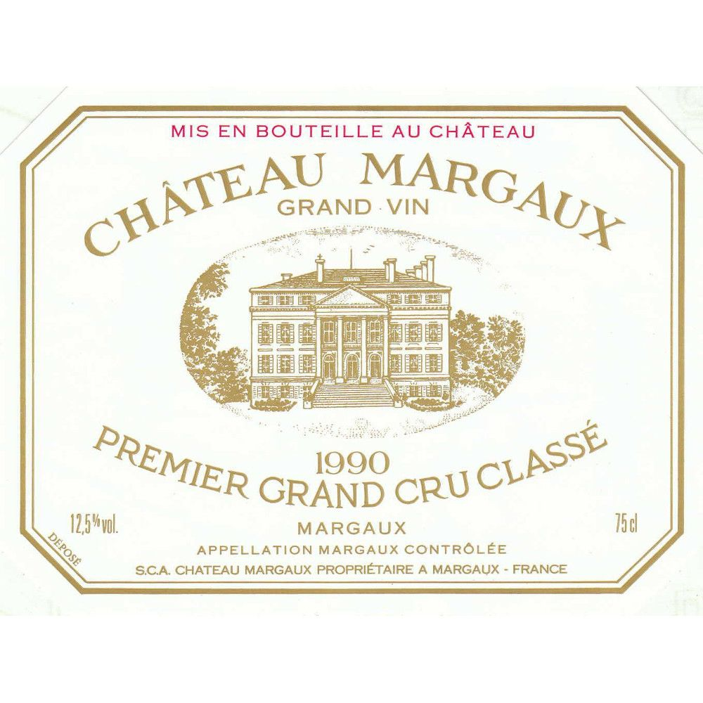 Chateau Margaux  1990 Front Label