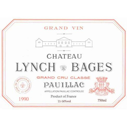 Chateau Lynch-Bages  1990 Front Label