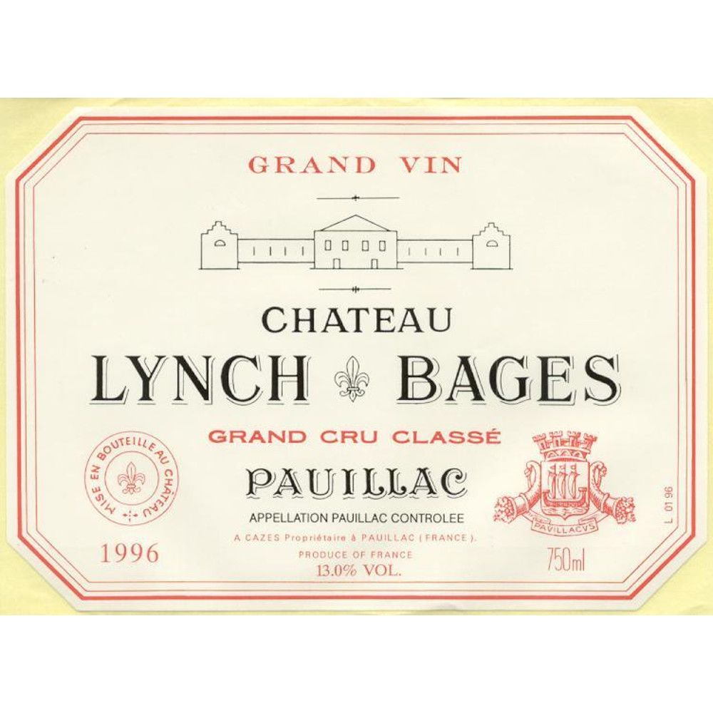 Chateau Lynch-Bages  1996 Front Label
