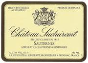 Chateau Suduiraut Sauternes (375ML half-bottle) 1997 Front Label