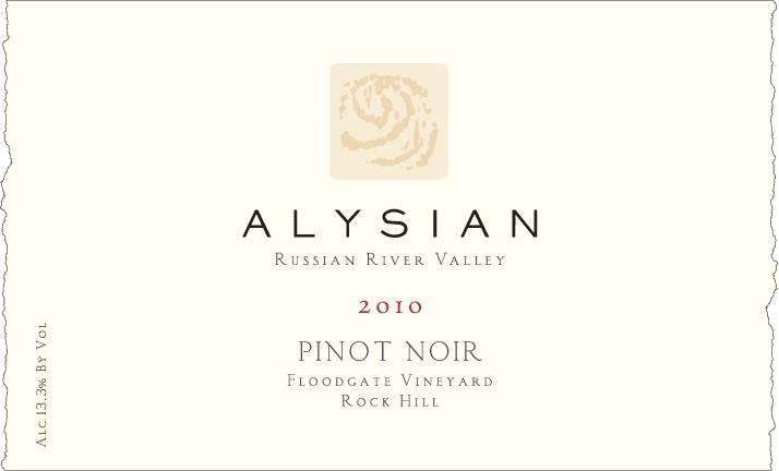 Alysian Floodgate Vineyard Rock Hill Pinot Noir 2010 Front Label