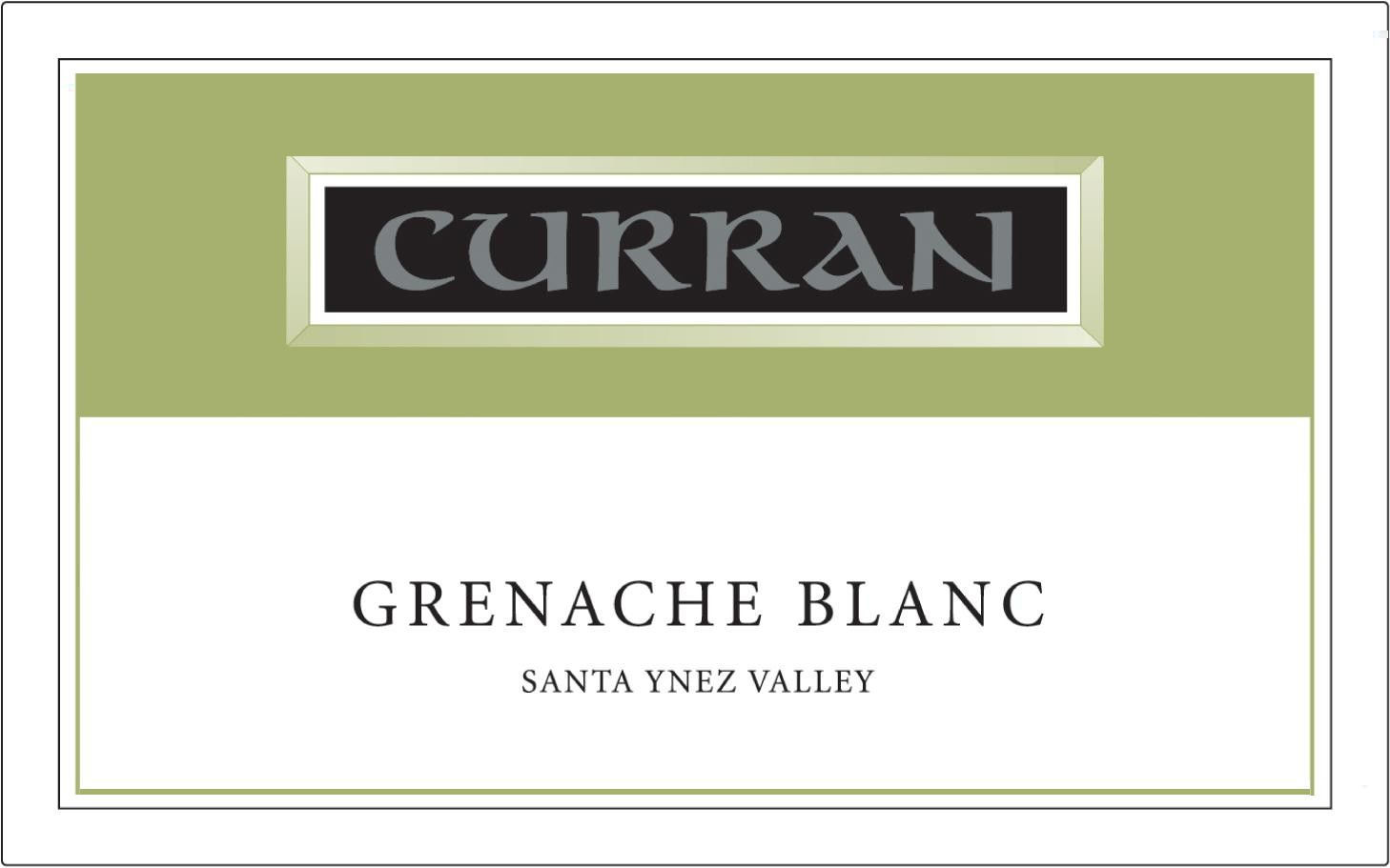 Curran Grenache Blanc 2012 Front Label