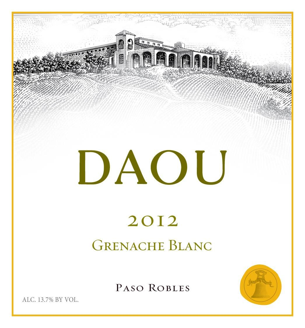 DAOU Vineyards Grenache Blanc 2012 Front Label