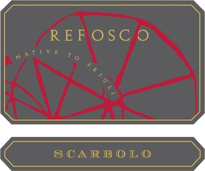 Scarbolo Refosco 2012 Front Label