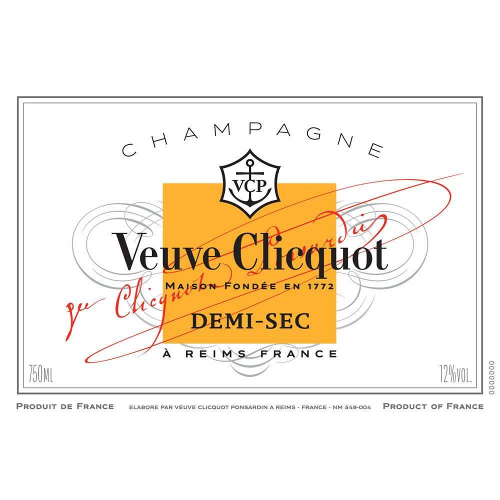 Veuve Clicquot Demi-Sec Front Label