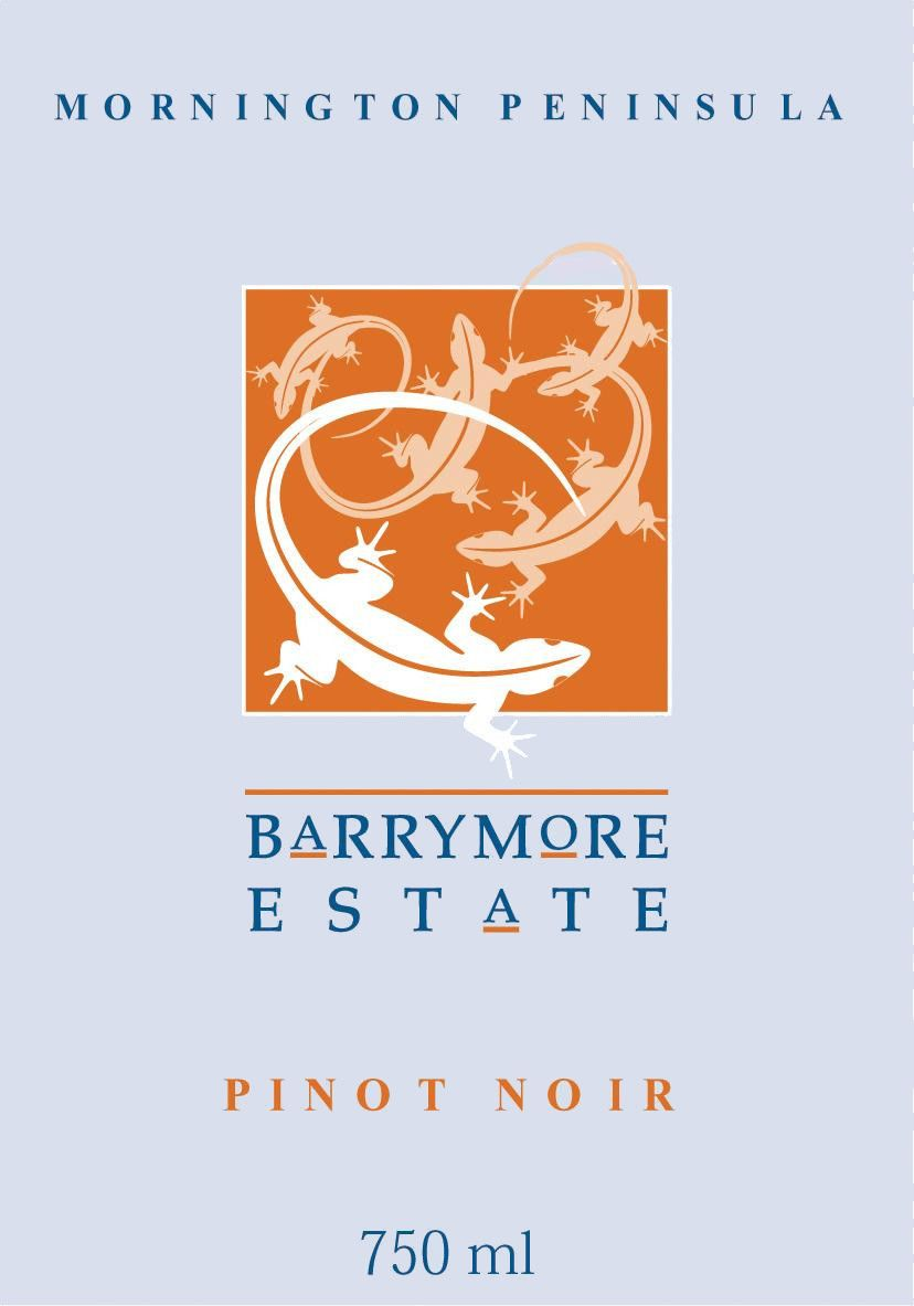Barrymore by Carmel Road Mornington Peninsula Pinot Noir 2002 Front Label