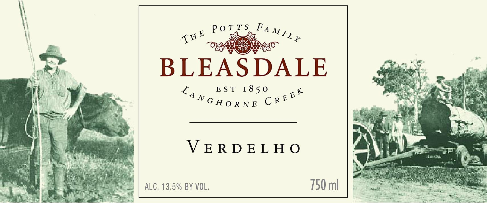 Bleasdale Potts Catch Verdelho 2014 Front Label