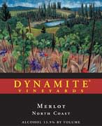 Dynamite Vineyards Merlot 2001 Front Label
