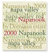 Dominus Napanook Vineyard 2000 Front Label
