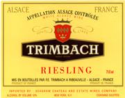 Trimbach Riesling (half-bottle) 1996 Front Label