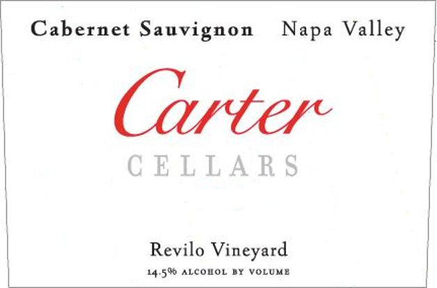 Carter Cellars Revilo Vineyard Cabernet Sauvignon (signed) 2007 Front Label