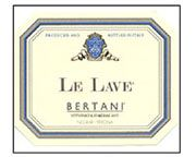 Bertani Le Lave 2002 Front Label